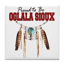 Proud to be Oglala Sioux Tile Coaster