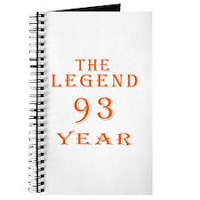 93 year birthday designs Journal