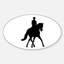 Half-pass Silhouette Oval Decal