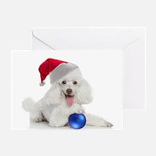 Santa Poodle Card