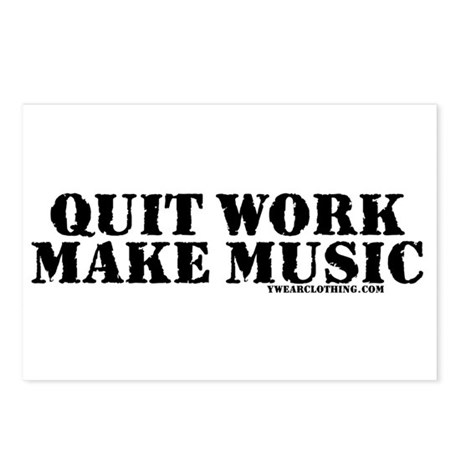 Quit Work, Make Music Postcards (Package of 8)