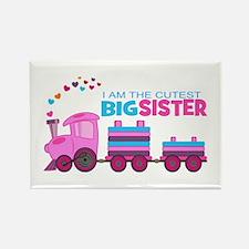 Cutest Big Sister -Train Rectangle Magnet