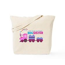 Cutest Big Sister -Train Tote Bag
