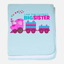 Cutest Big Sister -Train baby blanket