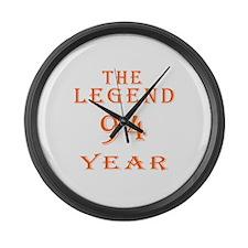 94 year birthday designs Large Wall Clock