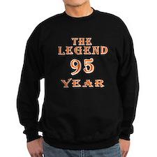 95 year birthday designs Sweatshirt