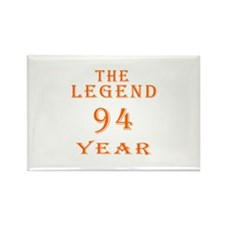 94 year birthday designs Rectangle Magnet