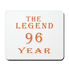96 year birthday designs Mousepad
