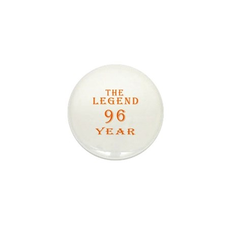 96 year birthday designs Mini Button