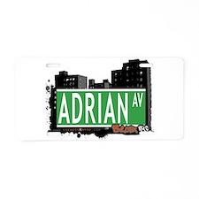 Adrian Ave Aluminum License Plate
