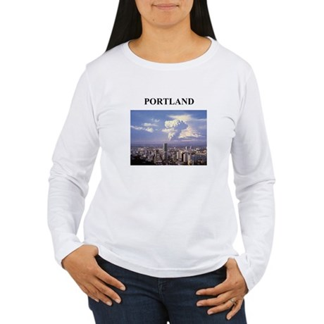 portland gifts and t-shirts Women's Long Sleeve T-
