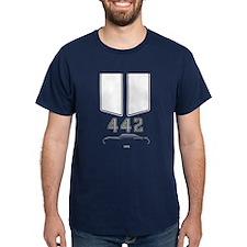 Olds 442 silhouette,logo/stripes for dark T-Shirt