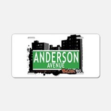 Anderson Ave Aluminum License Plate