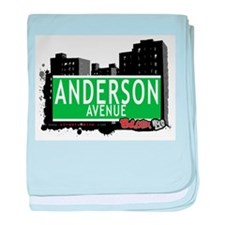 Anderson Ave baby blanket