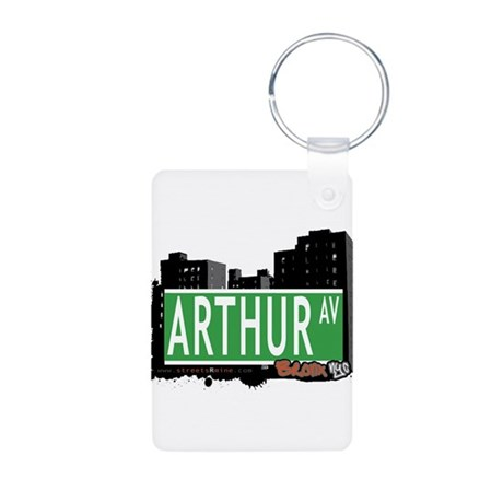 Arthur Ave Aluminum Photo Keychain