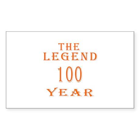 100 year birthday designs Sticker (Rectangle)