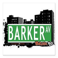 "Barker Ave Square Car Magnet 3"" x 3"""
