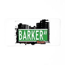 Barker Ave Aluminum License Plate