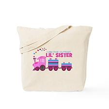 Cutest Lil Sister Train Tote Bag