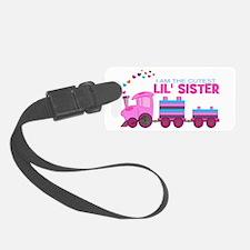 Cutest Lil Sister Train Luggage Tag