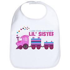 Cutest Lil Sister Train Bib
