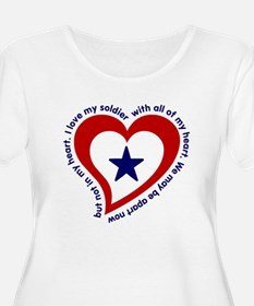 MG heartflag SOLDIER Plus Size T-Shirt