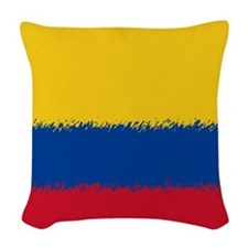 Colombian Flag Woven Throw Pillow