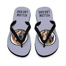 Yellow Lab Mom Flip Flops