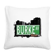 Burke Ave Square Canvas Pillow