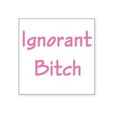 "ignorant bitch,pink copy.jpg Square Sticker 3"" x 3"