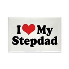 I Love My Stepdad Rectangle Magnet (10 pack)