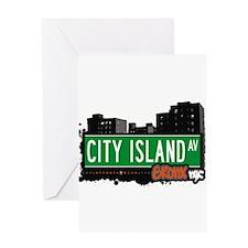 City Island Ave Greeting Card