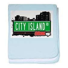City Island Rd baby blanket