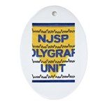 NJSP Polygraph Unit Oval Ornament