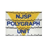 NJSP Polygraph Unit Rectangle Magnet