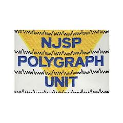 NJSP Polygraph Unit Rectangle Magnet (100 pack)