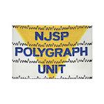 NJSP Polygraph Unit Rectangle Magnet (10 pack)