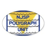 NJSP Polygraph Unit Oval Sticker