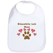 Chocolate Lab Mom Bib