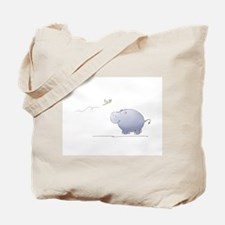 hippo and dragonfly Tote Bag
