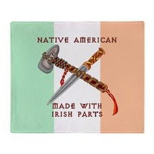 Native American/Irish Throw Blanket