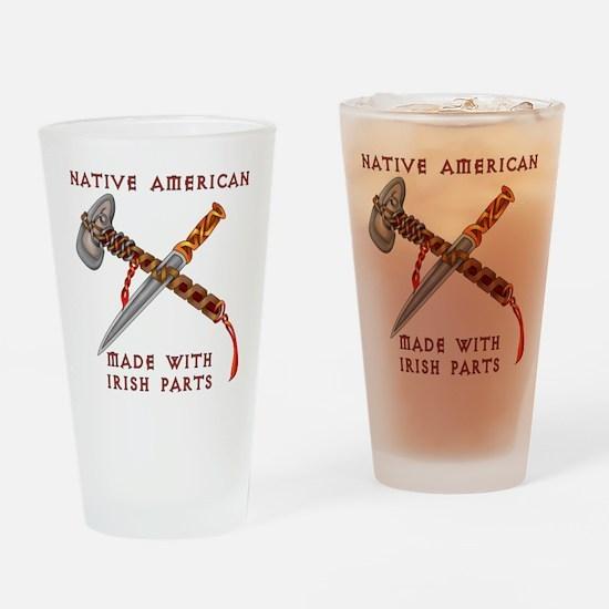 Native American/Irish Drinking Glass