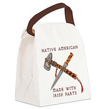 Native American/Irish Canvas Lunch Bag