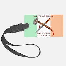 Native American/Irish Luggage Tag