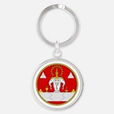 Laotian Royal Coat of Arms Keychains
