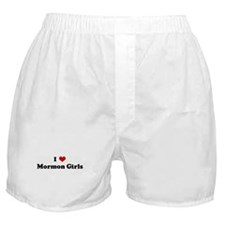 I Love Mormon Girls Boxer Shorts
