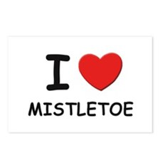 I love mistletoe Postcards (Package of 8)