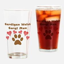 Cardigan Welsh Corgi Mom Drinking Glass