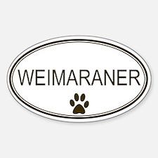 Oval Weimaraner Oval Decal