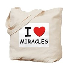 I love miracles Tote Bag